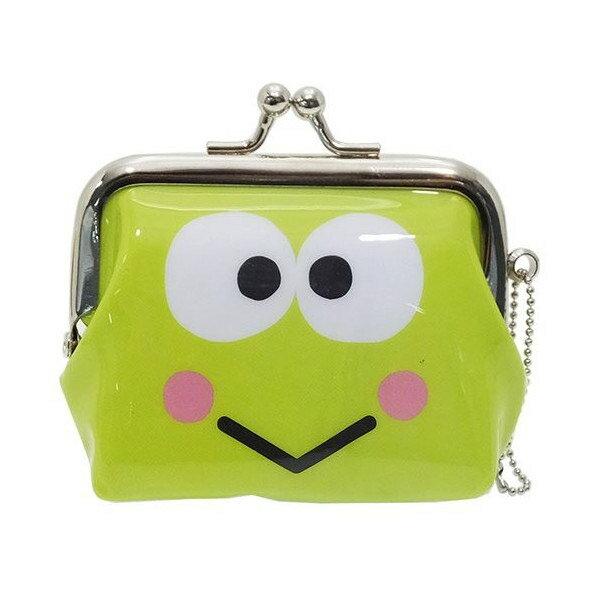 【日本進口正版】大眼蛙 DOOBY 三麗鷗人物 珠扣包 零錢包 Sanrio - 052489