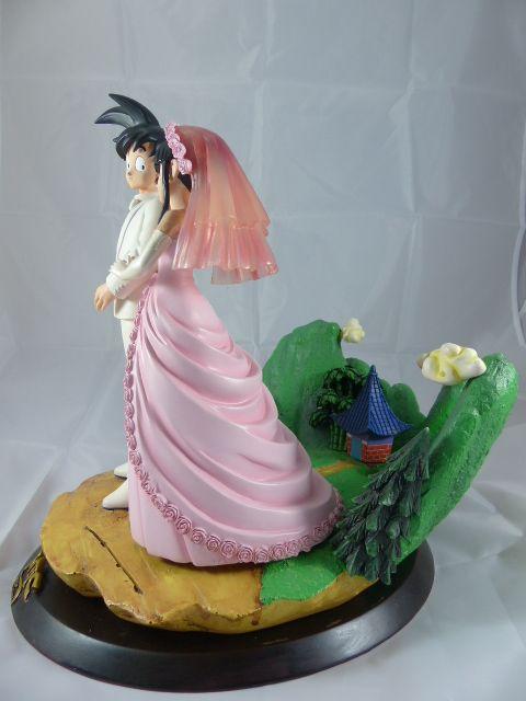 【秋葉園 AKIBA】七龍珠 孫悟空和琪琪的結婚典禮 公仔 GK模型 塗装完成品 限定品 4
