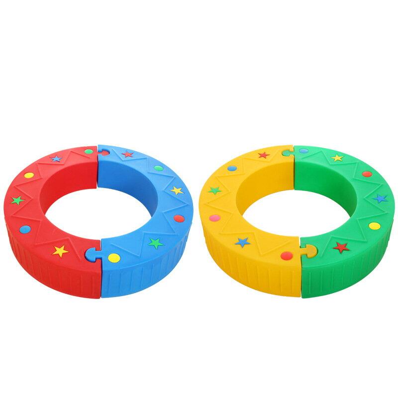 幼兒園早教兒童感統訓練平衡木半月搖彎曲S獨木橋