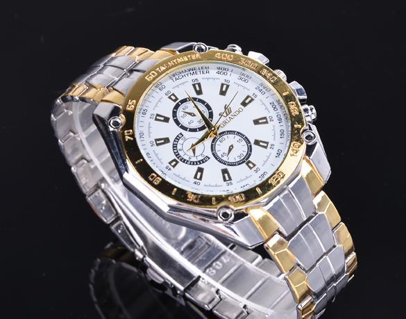 Stainless Steel  Quartz Clock Men's Wrist Watch 3
