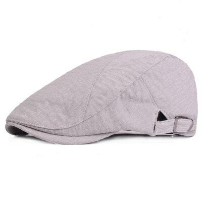 貝雷帽鴨舌帽-簡約純色棉質休閒男女帽子2色73tv79【獨家進口】【米蘭精品】