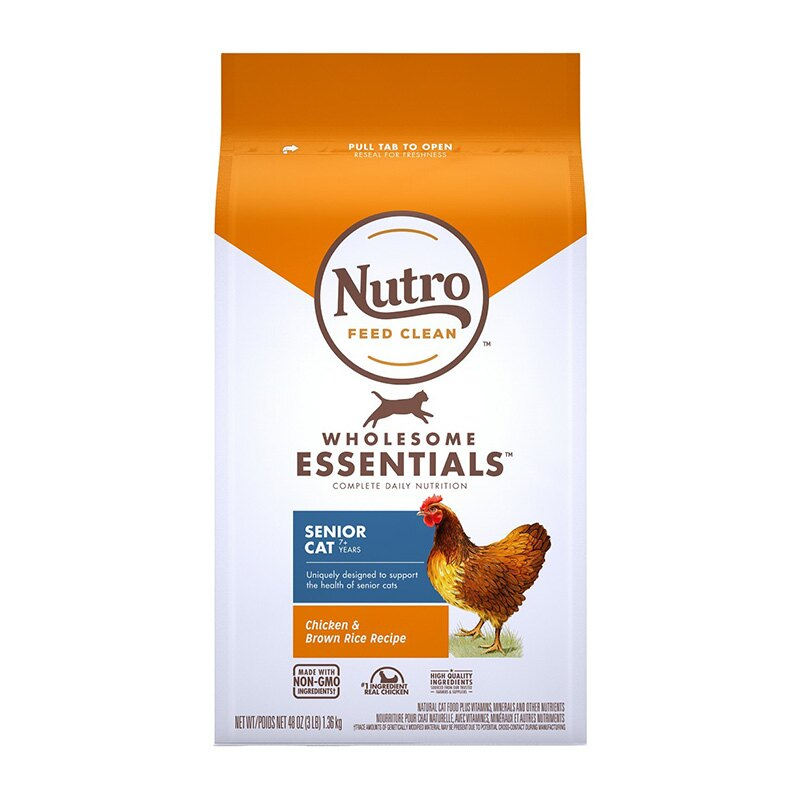 《Nutro美士》全護營養系列-熟齡貓配方(雞肉+糙米)-3LB  /  貓飼料 1