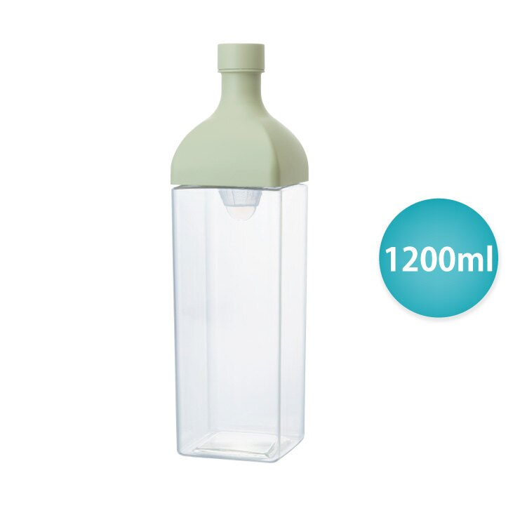 HARIO 方形冷泡茶壺1200ml/粉綠色/KAB-120-SG