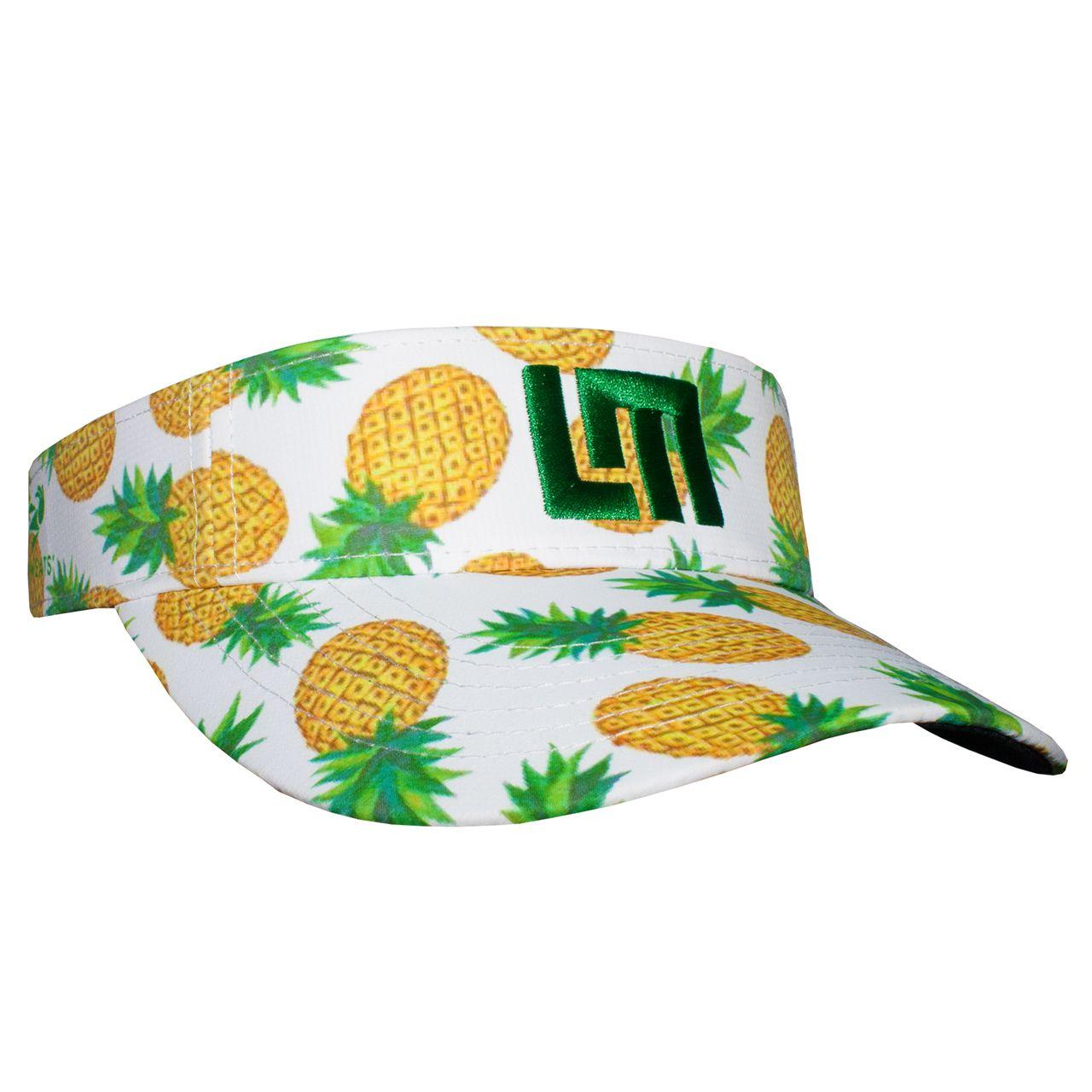 LOUDMOUTH 英國高爾夫服飾品牌-白底鳳梨中空帽