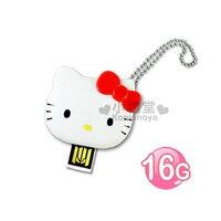 凱蒂貓週邊商品推薦到〔小禮堂〕Hello Kitty 造型隨身碟《紅.大臉.16G》輕巧可愛好攜帶