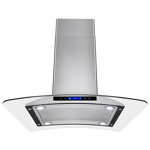 "AKDY 30"" GV-9009-30 Europe Style Stainless Steel Island Range Hood Touch Control 0"