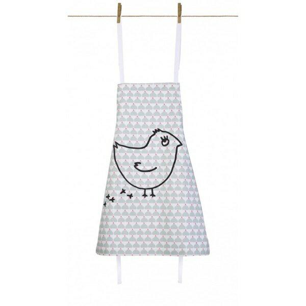 《法國 La Cocotte Paris》廚房的美好時光-孩童圍裙Chic Chick gris coquito 0