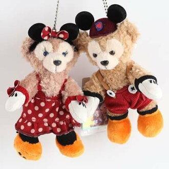 =優生活=【米奇米妮款】日本東京迪士尼Duffy達菲熊ShellieMay 雪莉玫 14cm站熊 鑰匙圈 吊飾 絨毛娃娃 玩偶