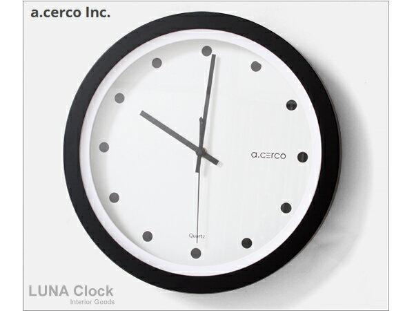 E&J【B19004-001】a.cerco LUNA 黑點 簡約掛鐘 時鐘/鬧鐘/loft風/設計