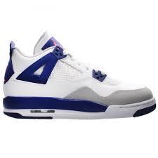 NIKE AIR JORDAN 4 RETRO GG 白 藍 大童鞋 女鞋 US 3.5~7 487724-132 J倉