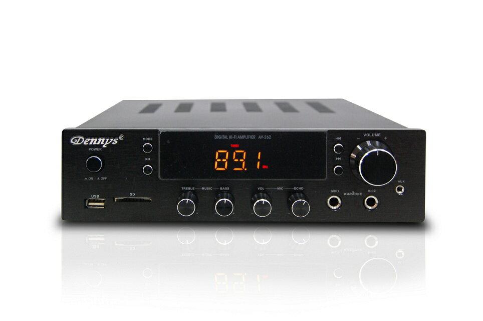 【Dennys】USB/FM/SD/MP3迷你擴大機(AV-262)