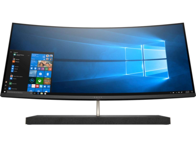 HP Envy 34 Curved Premium All-in-One AIO Desktop (Intel 8th Gen i7-8700T 6-Core, 16GB RAM, 2TB HDD + 1TB PCIe SSD, GeForce GTX 1050 4GB, 34 inch Curved QHD 3440 x 1440, WiFi, Bluetooth, Win 10 Home) 0
