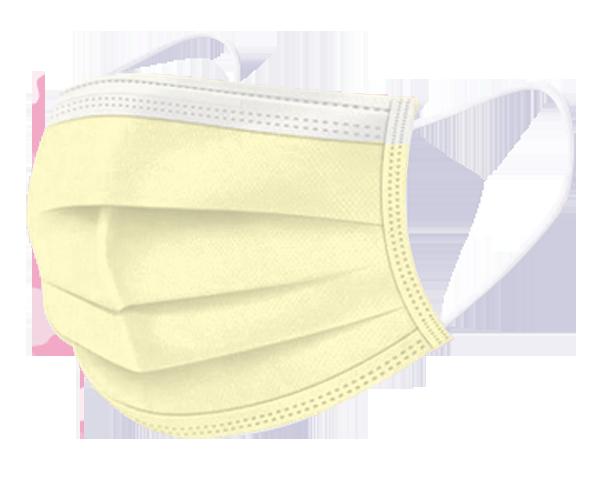 文賀生技【台灣MIT雙鋼印】兒童醫用口罩-單色系列-黃色