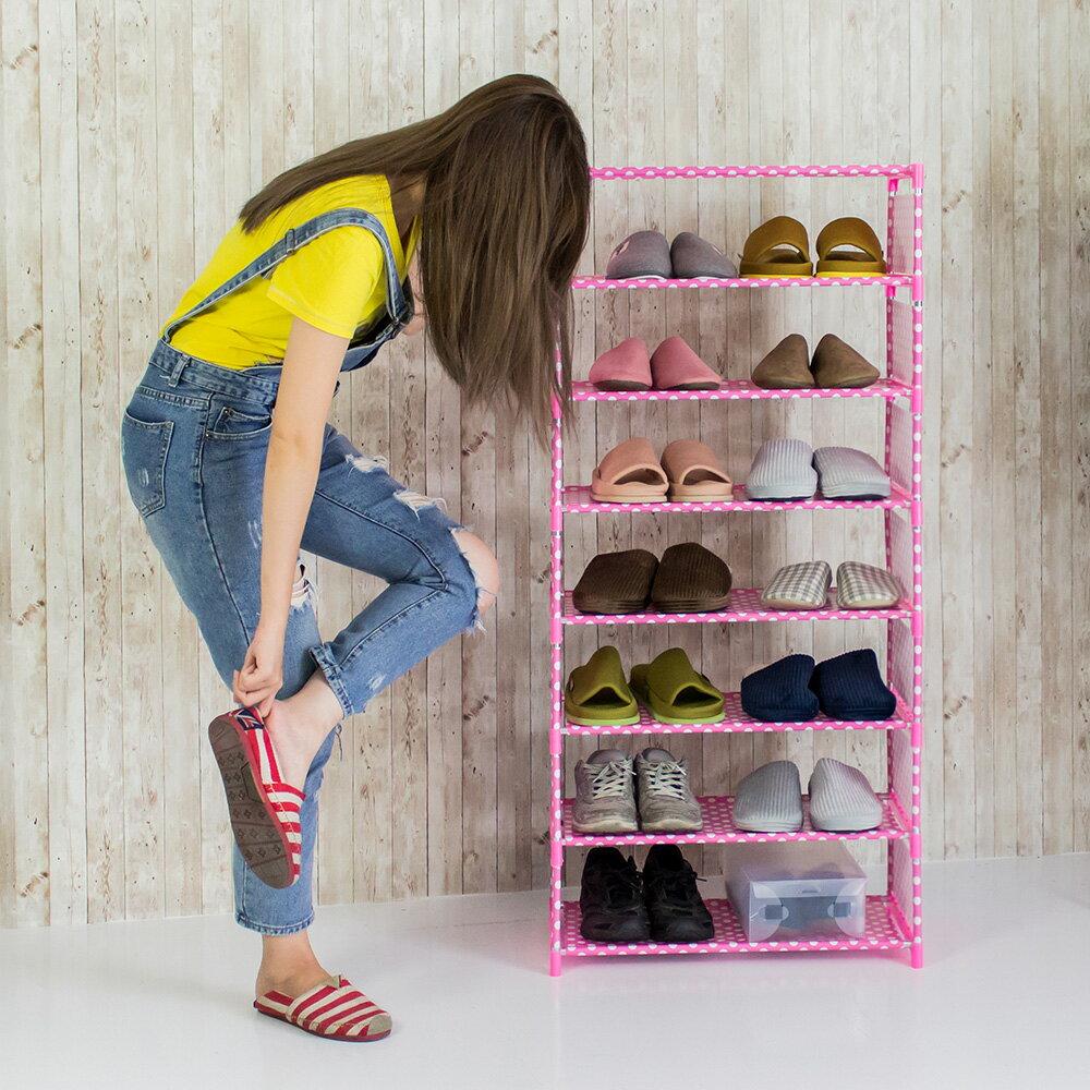 簡易 鞋架 鞋櫃 DIY 鞋架 簡約八層鞋架 收納【A026】