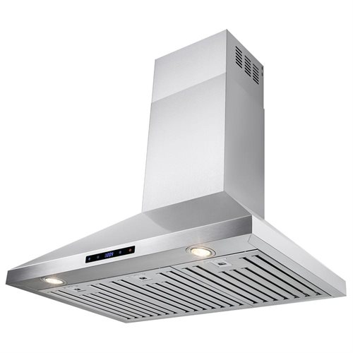 """36"""" Stainless Steel Wall Mount Range Hood Touch Screen Display Light Lamp Baffle Filter 2"""