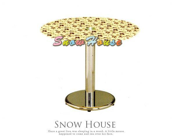 ╭☆雪之屋居家生活館☆╯AA761-03303電鍍圓盤桌餐桌茶几置物桌咖啡桌