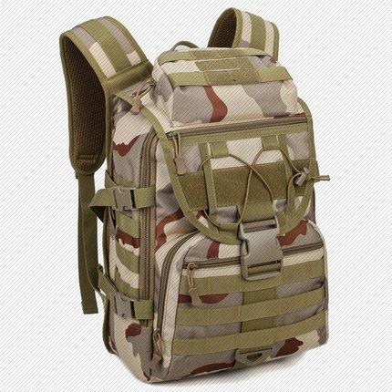 登山包 吃雞特種兵訓練包戶外迷彩箭魚徒步登山旅行雙肩包男士『J6093』