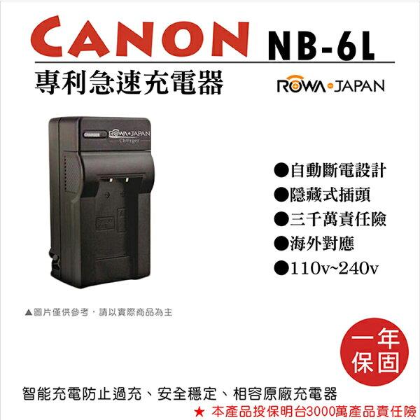 攝彩@樂華CANONNB-6L專利快速充電器NB6L座充1年保固IXUS200ISXY25IS