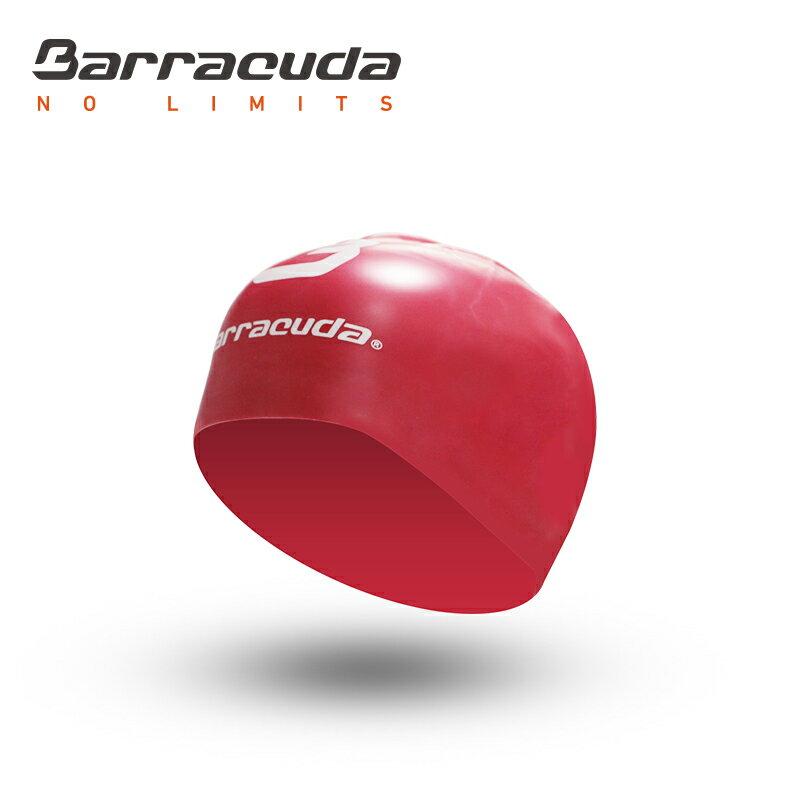 美國巴洛酷達Barracuda成人矽膠3D泳帽-紅色 - 限時優惠好康折扣