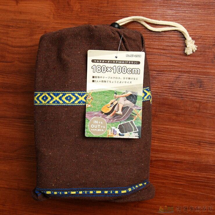 鹿牌 多用途野餐墊/睡墊/桌布/地毯 深棕色UP-2518