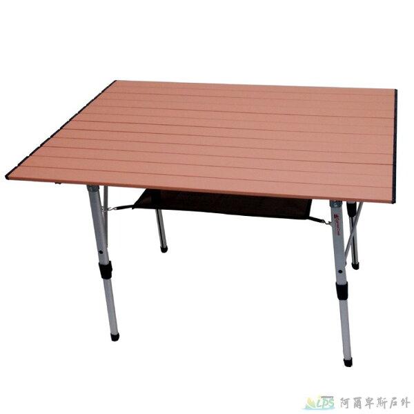 阿爾卑斯戶外用品:CypressCreek賽普勒斯100x69cm蛋捲桌摺疊桌桌面結構強化易清潔烤漆CT-ET100