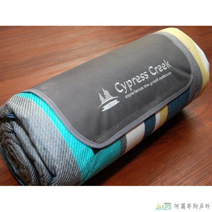 [阿爾卑斯戶外/露營]  Cypress Creek 野餐墊/營帳內墊/沙灘地墊 鋁箔底防潮 彩虹紋 CC-M201 - 限時優惠好康折扣