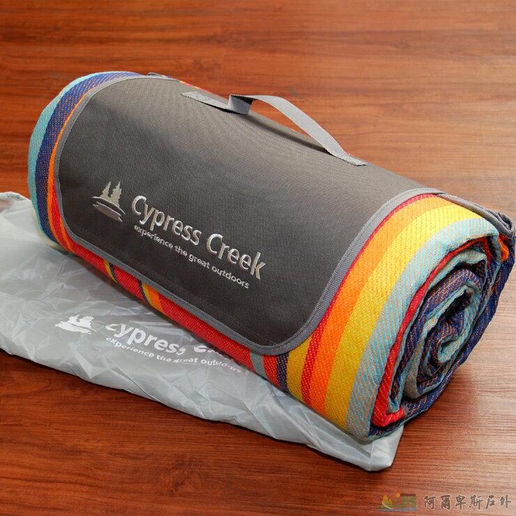 [阿爾卑斯戶外/露營] 土城 Cypress Creek 野餐墊/營帳內墊/沙灘地墊 鋁箔底防潮 彩虹紋 CC-M202 - 限時優惠好康折扣