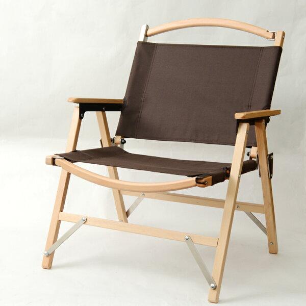 小巨人櫸木低面折疊椅咖啡色牛津布GPC-18002BW