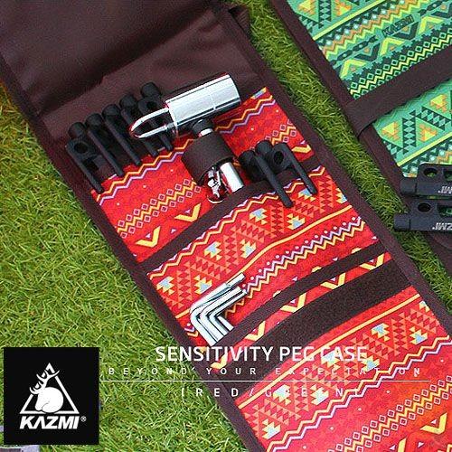 KAZMI 經典民族風營釘收納袋(紅色)K5T3B005RD[阿爾卑斯戶外/露營] 土城 - 限時優惠好康折扣