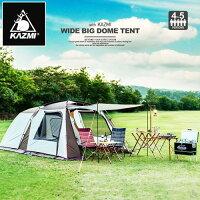 新手露營用品推薦到2016版 KAZMI 2 in1豪華家庭別墅帳適合4~5人一房一廳前後延伸前庭 K6T3T007