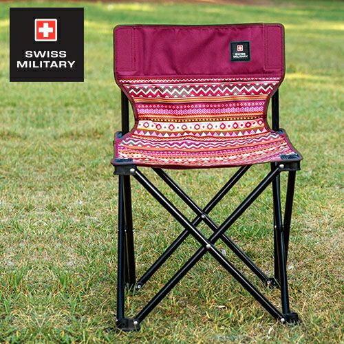 SWISS MILITARY民族風輕巧折疊椅-酒紅 KAZMI S6T3C002WI