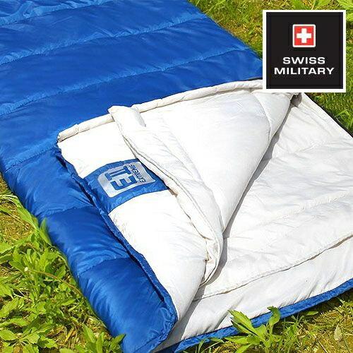 SWISS MILITARY可拼接信封型保暖睡袋 適溫18至-3C(藍色) S6T3M002-BL[阿爾卑斯戶外/露營] 土城