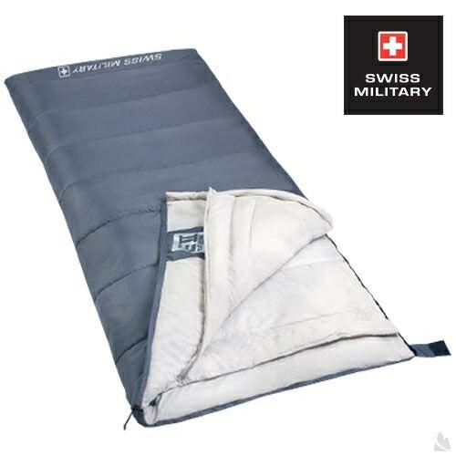 SWISS MILITARY可拼接信封型保暖睡袋 適溫18至-3C(灰色) S6T3M002-GY[阿爾卑斯戶外/露營] 土城