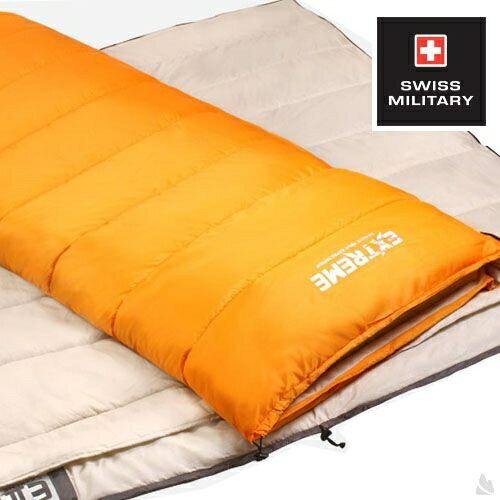 SWISS MILITARY可拼接信封型保暖睡袋 適溫18至-3C(橘色) S6T3M002-OR[阿爾卑斯戶外/露營] 土城
