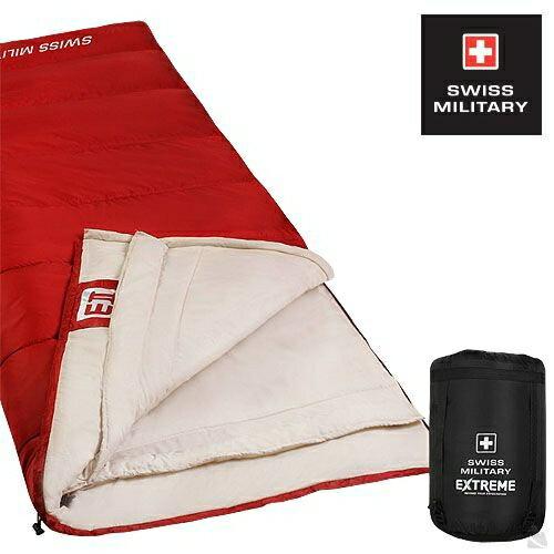 SWISS MILITARY可拼接信封型保暖睡袋 適溫18至-3C(紅色) S6T3M002-R[阿爾卑斯戶外/露營] 土城