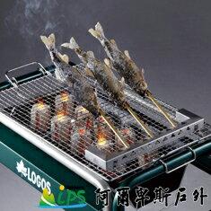 [阿爾卑斯戶外/露營] 土城 LOGOS 串燒名人香魚烤架 / 不鏽鋼烤肉架 81062231 - 限時優惠好康折扣