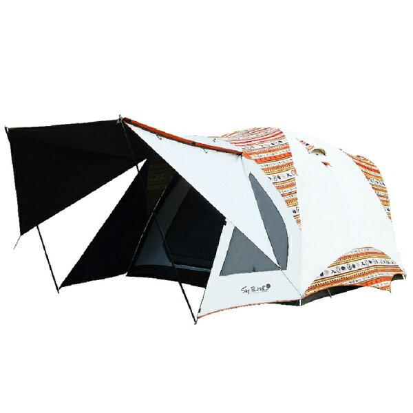 阿爾卑斯戶外用品:OutdoorBase彩繪天空300x300cm鋁合金八人帳23021