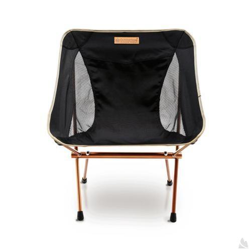 OutdoorBase AMOEBA-1kg超輕量鋁合金摺疊休閒椅-低調黑-耐重120kg 25698 [阿爾卑斯戶外/露營] - 限時優惠好康折扣