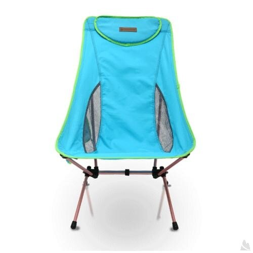 OutdoorBase AMOEBA-高背椅兩段傾斜角度-鋁合金摺疊休閒椅-天空藍-耐重120kg 25773 [阿爾卑斯戶外/露營] 土城 - 限時優惠好康折扣