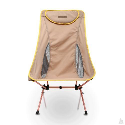 阿爾卑斯戶外用品:OutdoorBaseAMOEBA-高背椅兩段傾斜角度-鋁合金摺疊休閒椅-古銅咖-耐重120kg25797