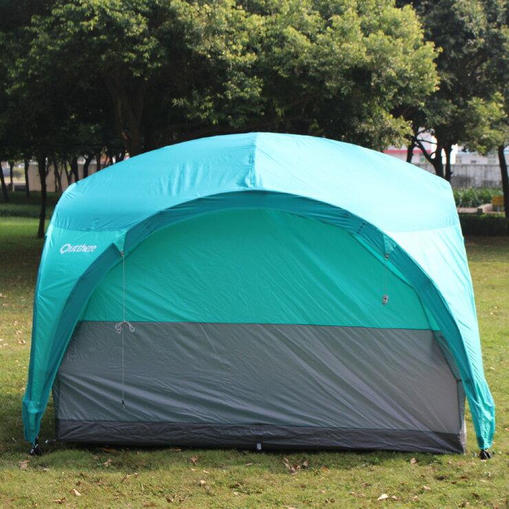 好野 Outthere廣場半內掛帳- 4~5人睡帳-青色 AL00202 [阿爾卑斯戶外/露營] 土城