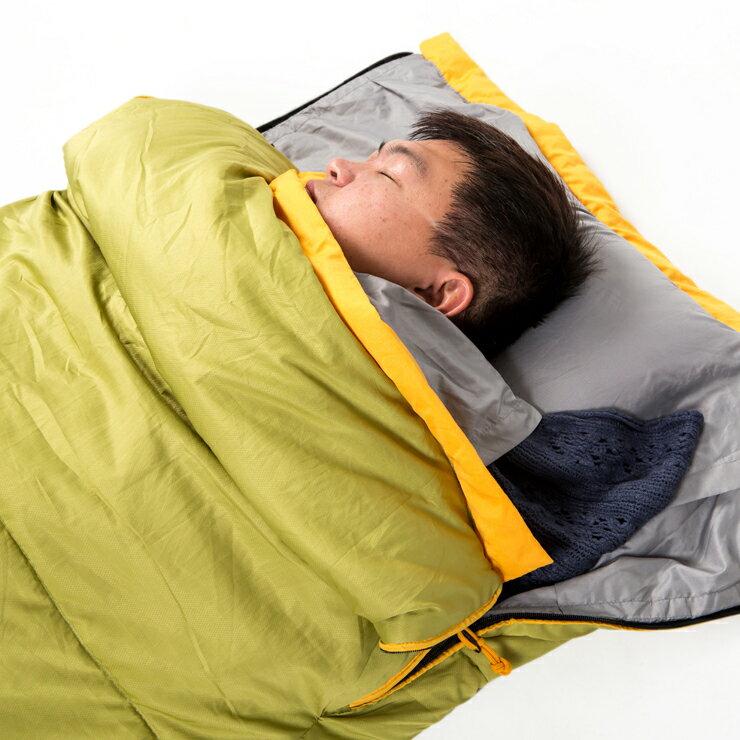 好野 Outthere好窩睡袋英威達七孔保暖纖維5~10°C適用-芥末黃AS00111 [阿爾卑斯戶外/露營] 土城