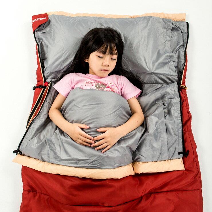 好野Outthere好窩睡袋英威達七孔保暖纖維5~10°C適用-酒紅色AS00112