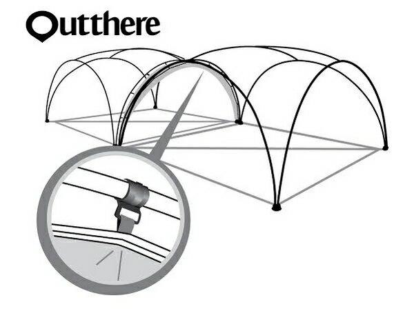 好野 Outthere廣場帳連接布-灰色 AY00803 [阿爾卑斯戶外/露營] 土城