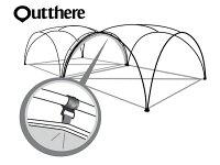 新手露營用品推薦到好野 Outthere廣場帳連接布-灰色 AY00803 [阿爾卑斯戶外/露營]