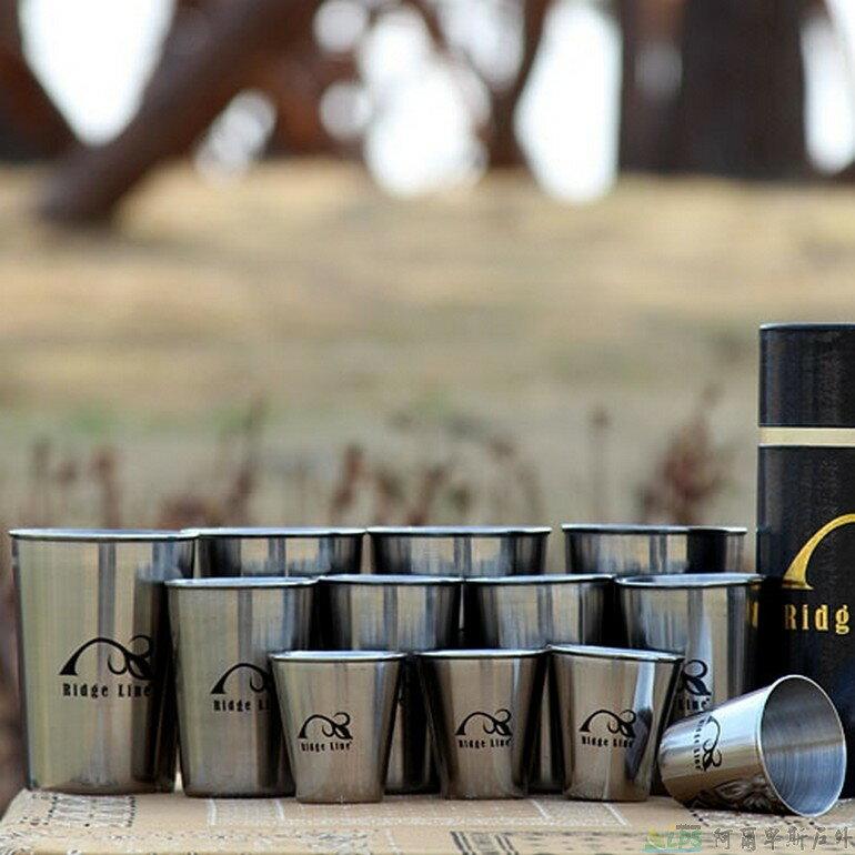 [阿爾卑斯戶外/露營] 土城 Ridge Line 不鏽鋼套杯12件組/露營餐具 001517 - 限時優惠好康折扣