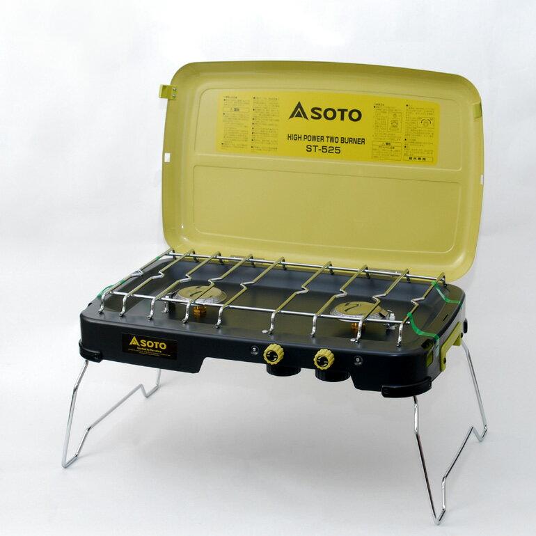 SOTO卡式瓦斯 雙口爐 送收納袋與導熱棒 ST-525