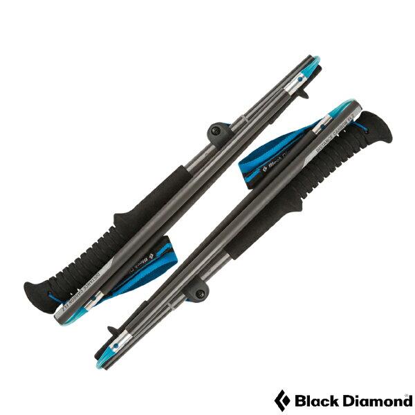 阿爾卑斯戶外用品:BLACKDIAMONDDISTANCECARBONFLZ攤纖維折疊式登山杖(一對)112176