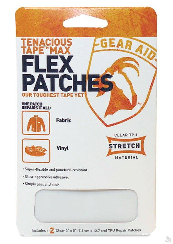 McNett Tenacious Tape Max Flex Patches彈性貼片(透明) 7.6 x 12.7 cm (2片入), 10800[阿爾卑斯戶外/露營] 土城