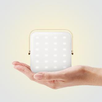 送珍珠柔光罩 N9 LUMENA 小黃光行動電源LED照明燈1300流明/露營/錄影拍照打光 N9-LUMENA-Syellow